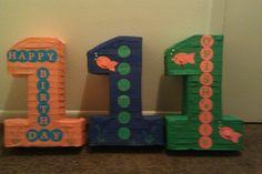 Center pieces for jrs party Nintendo 64, Center Pieces, Logos, Birthday, Happy, Art, Craft Art, Centerpieces, A Logo