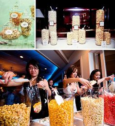 Include different kinds of popcorn on the candy buffet...awesome!