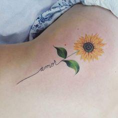 Sunflower tattoo tatuaggi sunflower tattoos, amor tattoo e t Trendy Tattoos, Cute Tattoos, Unique Tattoos, Beautiful Tattoos, Body Art Tattoos, Small Tattoos, Tatoos, Female Tattoos Small, Memory Tattoos