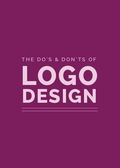 What not to do and what to do on Logo Designs. #logo #inspirations #websites