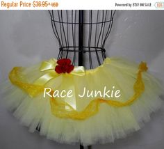 Sale- CIJ Southern Belle Yellow Princess. ADULT Running Tutu. Princess Costume. Halloween Costume. Cosplay. by RaceJunkie on Etsy https://www.etsy.com/listing/207906861/sale-cij-southern-belle-yellow-princess