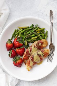 Prosciutto Wrapped Chicken is such an easy gluten free dinner! Pro tip: don't skip the sauce!