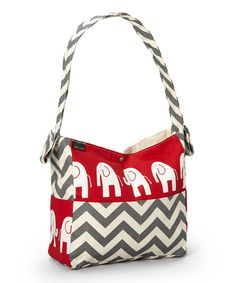 Brownie Gifts Red Elephant Diaper Bag by Brownie Gifts #zulily #zulilyfinds