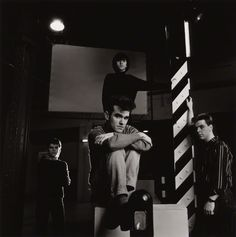 The Smiths at The Hacienda, Machester, England ― photo by Eric Watson | via National Portrait Gallery.