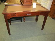 Angela Writing Desk with Leather Top - eclectic - desks - columbus - Geitgey's Amish Country Furnishings