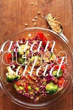 EASY 30 minute Asian Quinoa Salad! Big flavor, lots of protein, SO delicious! #vegan #glutenfree #salad #quinoa #recipe