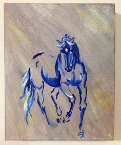 Bailando caballo azul