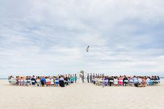 Seriously perfect beach ceremony at The Grand Hotel of Cape May, NJ | Danette Pascarella Photography