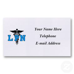 Nurses LPN Medical Symbol Business Cards