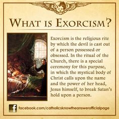 Roman Catholic - What Is Exorcism? It's different than #Dystonia. One is inviting Satan into your Heart and Soul. The other is a Neurological condition that requires medical intervention.  #DystoniaAwareness #CatholicAdvocate