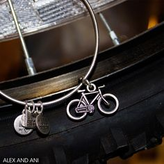 Alex and Ani Bicycle in silver. My husband bought this for me for Christmas 2014.