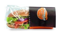 Bolsa Papel Bocadillo/Snack Extra. Las bolsas de papel antigrasas han sido elaboradas con diseños personalizados.