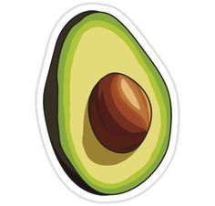 Avocado by LaurArt - Buy 6 stickers, Get 50% off - Redbubble