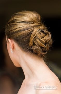 elegant braided buns wedding hair updo