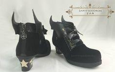 Empty Wardrobe -The Starlit Night Dream- Lolita Shoes with Devil Wings