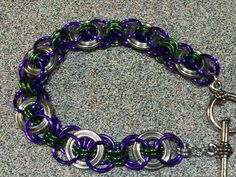 Olympia weave in steel, purple and green