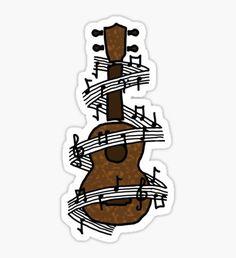 Ukulele with Music Sticker