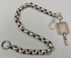 um 1850 & 1904: SILBER Taschenuhrenkette mit Uhrenschlüssel, SCHWEDEN !!!   eBay