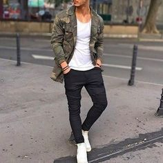 How to Wear a Camouflage Jacket (26 looks) | Men's Fashion