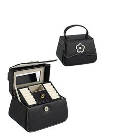Take a look at this Black Leather Carry On Travel Jewelry Case by Annaleece on #zulily today! $14 !!