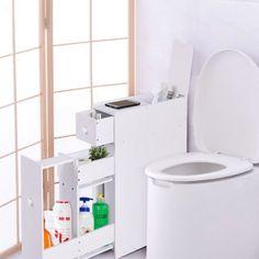 Free Shipping. Buy Costway Narrow Wood Floor Bathroom Storage Cabinet Holder Organizer Bath Toilet at Walmart.com