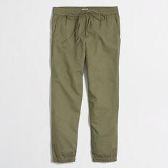 """<ul><li>Linen/cotton.</li><li>Drawstring waistband.</li><li>26 1/2"""" inseam.</li><li>Slant pockets.</li><li>Machine wash.</li><li>Import.</li></ul>"""