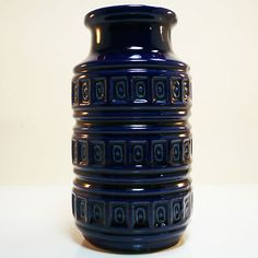 West German Pottery Vase • Fat Lava • Scheurich • Mid Century • Modernist