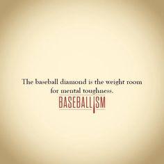 Baseball diamond is the weight room of mental toughness. Play Baseball Games, Baseball Park, Baseball Crafts, Baseball Quotes, Baseball Boys, Better Baseball, Baseball Season, Softball, Baseball Stuff