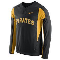 Pittsburgh Pirates Nike Long Sleeve Windbreaker - Black