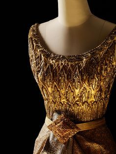 Thai Dusit designed by Balmain for Queen Sirikit of Thailand, 1963 From the Queen Sirikit Museum of Textiles
