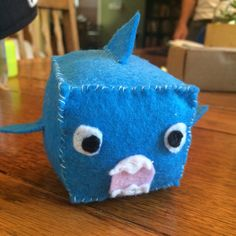 Felt cube shark!!! Named sharky!!!