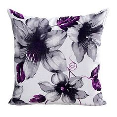 Hatop Flowers Pattern Sofa Bed Home Decor Pillow Case Cushion Cover Home Decor 45cm*45cm/18*18  Consider decorating with purple accents if you love the look of purple home decor. It does not matter if you like violet, lavender, lilac, amethyst or more of a muave purple. Rest assured you will find your perfectly purple paradise.   I love the look of purple modern wall art, purple accent pillows and trendy purple decorative accents to spread all over my home.  This works well with my ultra mod