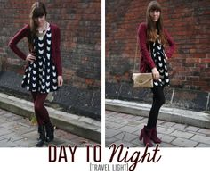 Traveling Light - Packing Outfits that Go From Day to Night via @Jessica Hobin