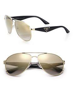 b0a4c651bf Prada - 60MM Aviator Sunglasses Prada Sunglasses
