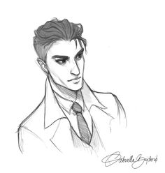 "moonlit-sketches: ""And I'm baaaack! Sorry for my absence, I hope you all had a wonderful holiday, guys! Let's start 2018! This year my goal is to draw more and more and more and more!! So here's a little warm up doodle of Kaz Brekker from Six of..."