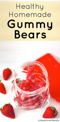Healthy Homemade Gummy Bears! No high fructose corn syrup, no artificial food dyes, no artificial food flavorings... just pure, all-natural strawberry goodness! [Fat Free, Sugar Free, Low Carb, Gluten (Low Carb No Baking Cookies)
