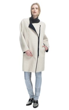 Phillip Lim Splittable Wool Coating Coat on Moda Operandi