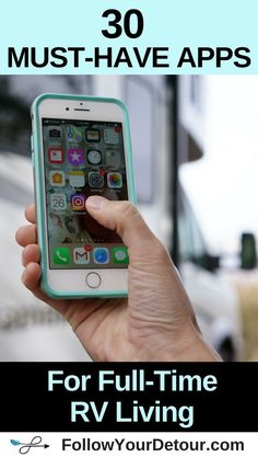 These are MUST-HAVE apps for RVers living full-time on the road or just taking occasional camping road trips. They help to make RV or van life easier, Camping Hacks, Rv Camping Checklist, Camping Activities, Camping Car, Camping Life, Rv Life, Outdoor Camping, Camping Ideas, Camping Essentials