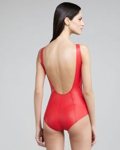 I really like the back of this red swim suit. I am a one piece kinda girl