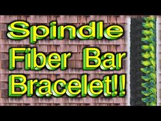 How To Make A Paracord Spindle Fiber Bar (Bracelet) With Buckles