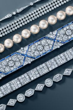 Ring in the new year with epic Hollywood glamour. Tiffany & Co. diamond, sapphire and pearl jewelry. #TiffanyPinterest