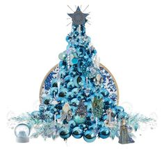 """7648 - its a Wedgwood Blue Christmas"" by suburbhater ❤ liked on Polyvore featuring art"
