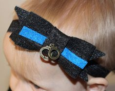 Celtic Knot Head Wrap thin blue line police by BluelineSwag