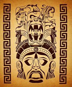 17992342-mexican-mayan-motifs--symbol--paper-texture.jpg (372×450)