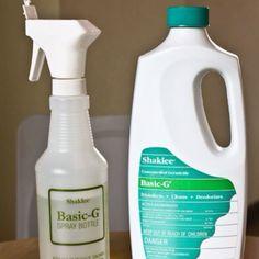 Shaklee Basic G Germicide. I will never disinfect with anything else. Safest disinfectant on the market.  http://jilldavis.myshaklee.com/us/en/