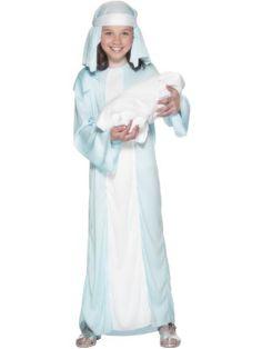 Smiffys Kids Girls Mary Nativity Christmas Play Costume Size L Smiffy's