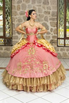 Red dress mexican quinceanera quince these sweet