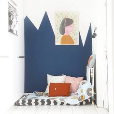 Beautiful Blue Rooms with Mustard Accents - Petit & Small