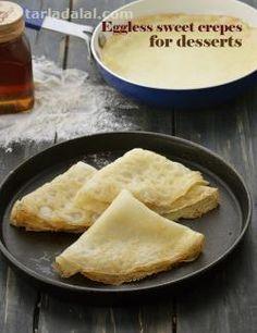 Crêpes recipe   by Tarla Dalal   Tarladalal.com   #4028