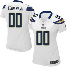 9869c1450 Nike San Diego Chargers Customized White Stitched Elite Women s NFL Jersey  Nfl Jerseys